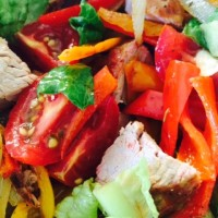 spicy pork salad recipe