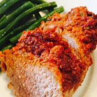 Recipe for Muhummara Pork Tenderloin