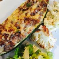 Recipe for Beef~Cheesy Zucchini Bake